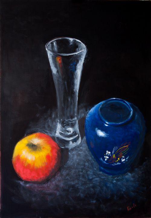 Still life with apple - Karls Berzins