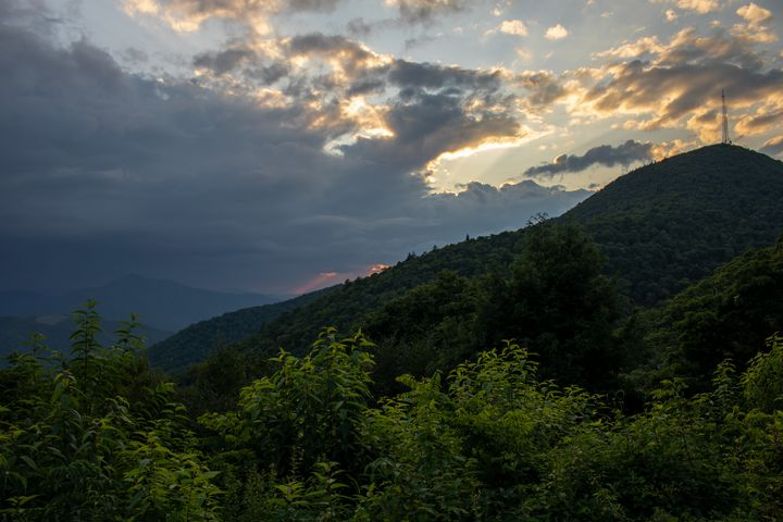 Mt. Pisgah Stormy Sunset - Carver Buis