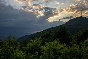 Mt. Pisgah Stormy Sunset