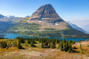 Hidden Lake Below Bearhat Mountain