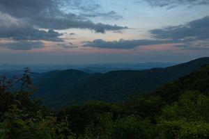 Blue Ridge Mountains at Sunset