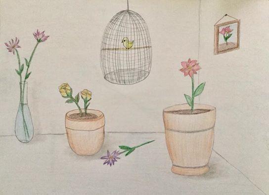 Bird Speaking to Flowers - Sheren