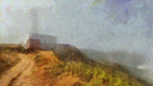 Flamborough Lighthouse in Mist