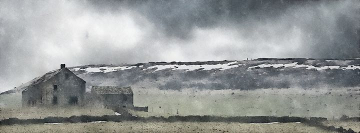 Deserted Barn at Crow Edge - Chris Bradbury Art