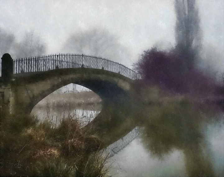 Cawthorne Bridge in Autumn - Chris Bradbury Art