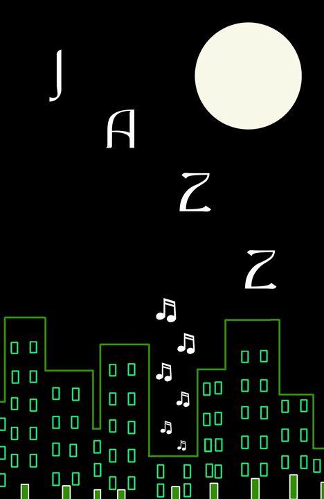 Jazz (greenline) - Chris Bradbury Art