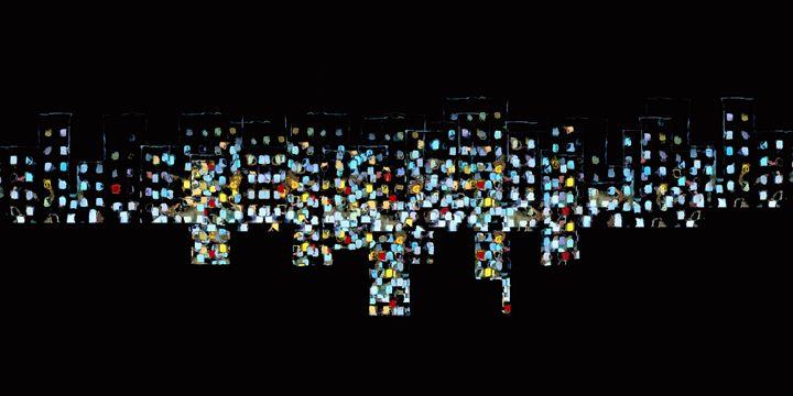 City at Night - Chris Bradbury Art