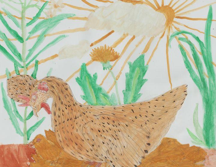 Easter Egger Hen and Chick - Olivia's Imagination Station