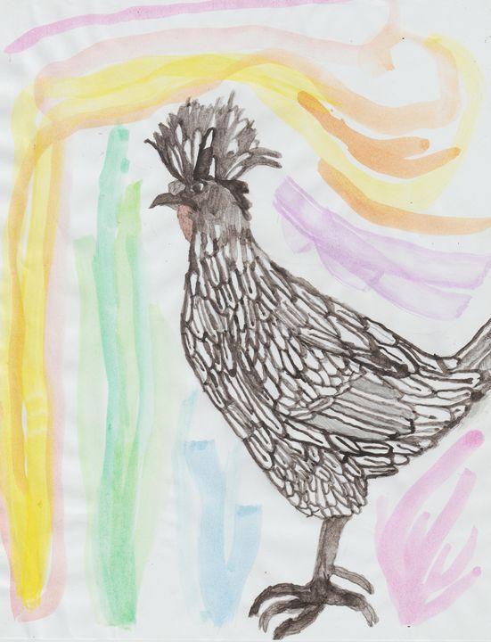 Multi-Color Polish Rooster - Olivia's Imagination Station