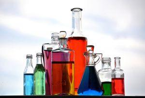 Glass Bottles in Colour