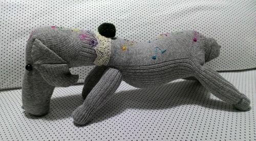 Gray puppy doll - Handmade Dolls