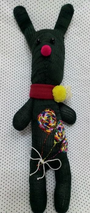 Green Rabbit Doll - Handmade Dolls