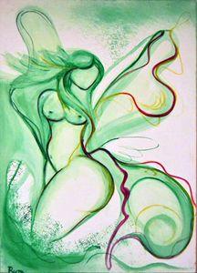Woman- butterfly