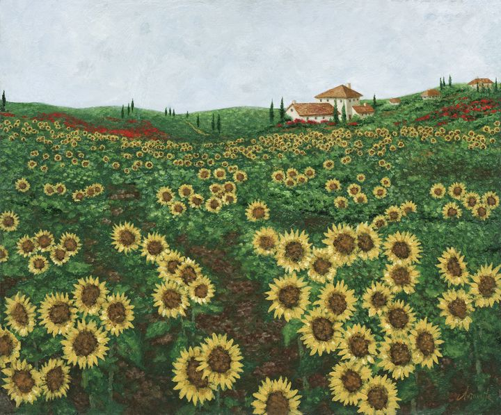 Sunflowers, Tuscany - Sunflower Fine Art Galleries, Mirrors, and  Pictur