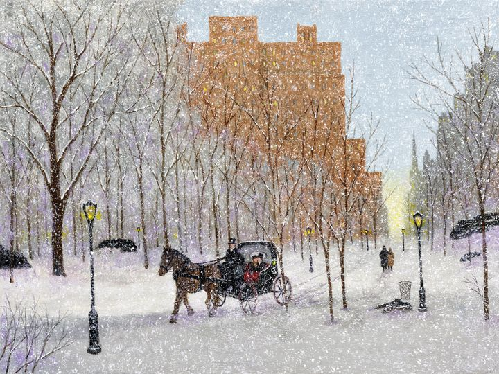 Winter in Central Park - Sunflower Fine Art Galleries, Mirrors, and  Pictur
