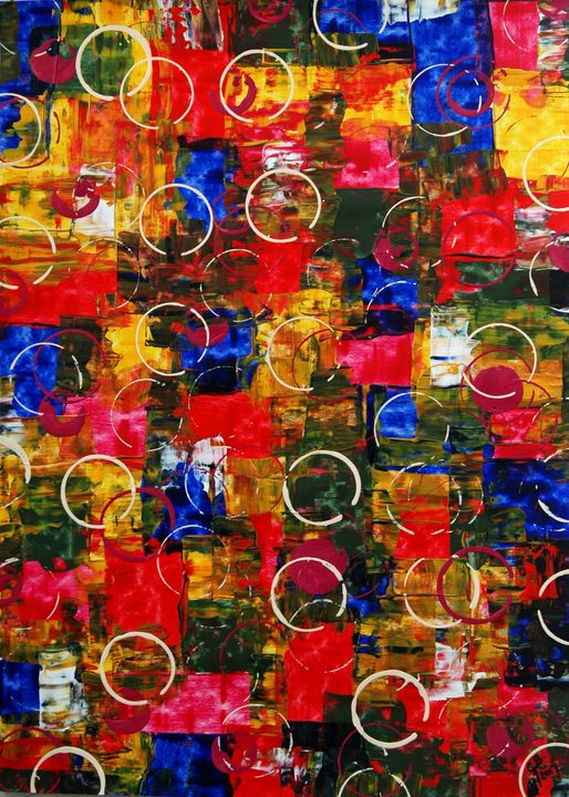 Abstract art on paper 27 - Conrad Bloemers