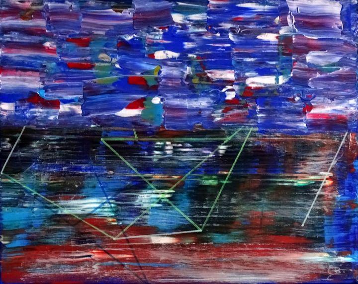 Dutch landscape (framed painting) - Conrad Bloemers