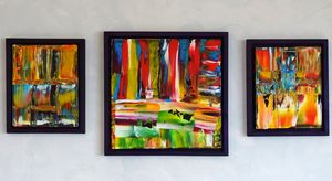 you neer be alone (triptych framed)