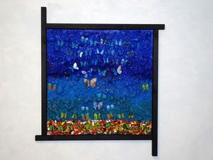 Butterfly blue's (framed artwork)