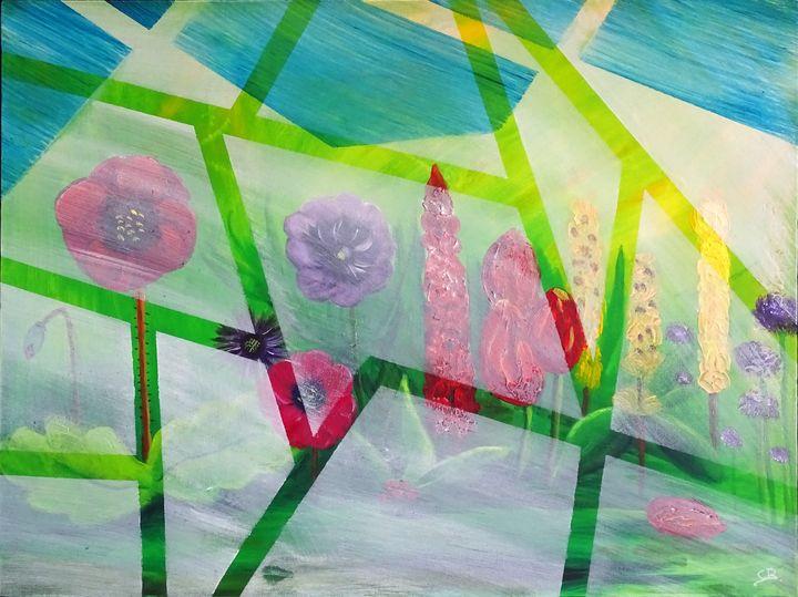 Abstract flowerfield - Conrad Bloemers