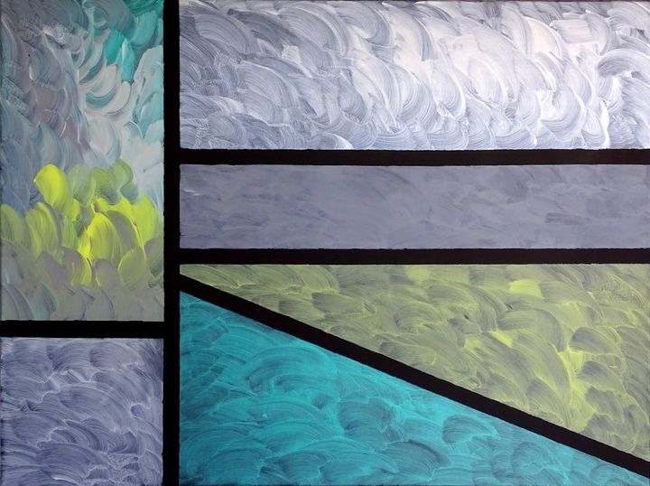 It is coming together (large acrylic - Conrad Bloemers