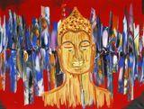 thai style buddha painting