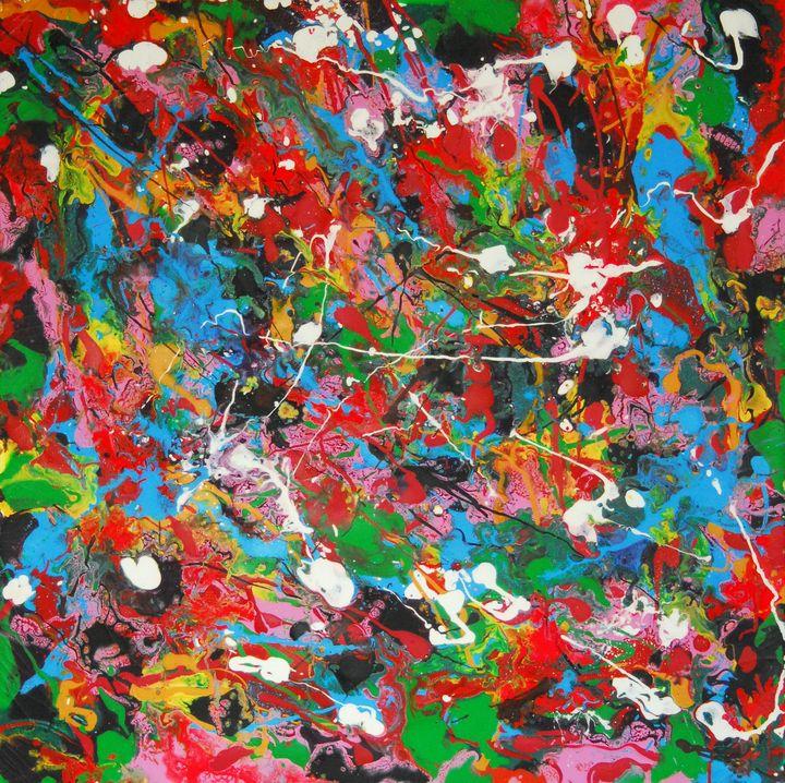 Evolution (100x100cm, modern art) - Conrad Bloemers