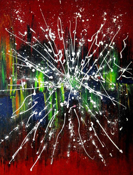 FLYING STARS (framed artwork) - Conrad Bloemers