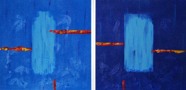 Simplicity 1,2(diptych, framed art) - Conrad Bloemers