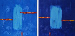 Simplicity 1,2(diptych, framed art)