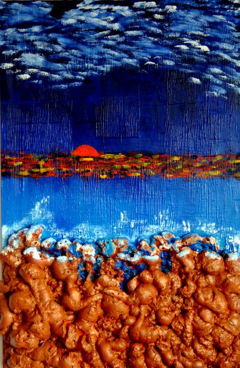 Sea side sunset - Conrad Bloemers