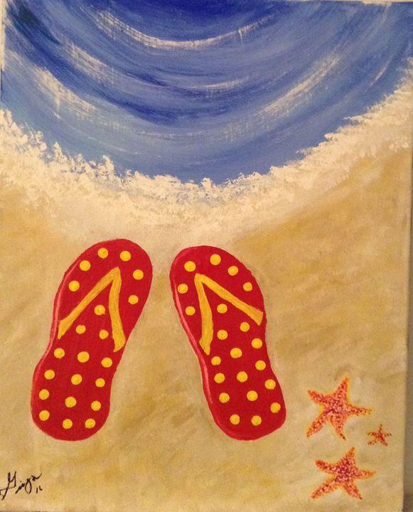 Life is better in flip flops - GINNI MCNAMARA