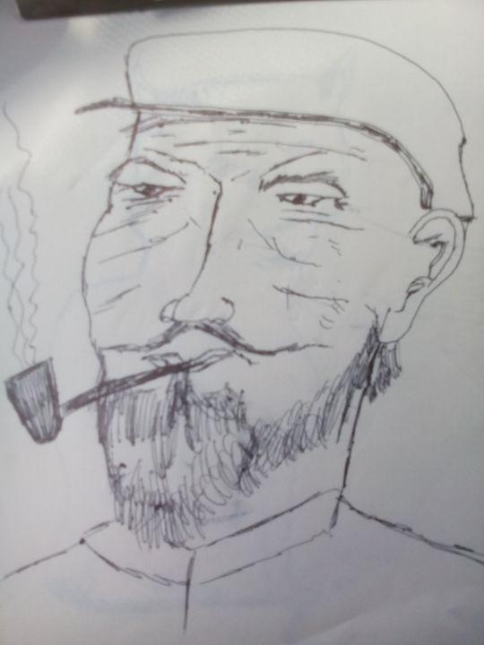 old man fisherman - John Vitali Art