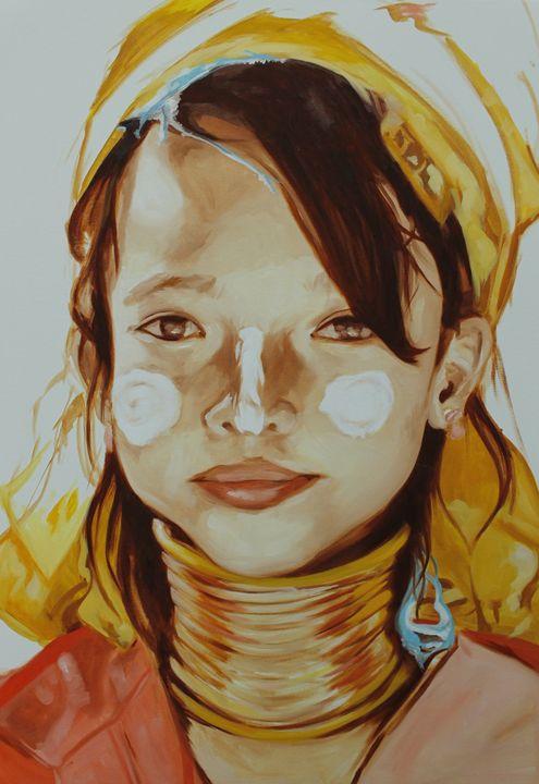 Chiang-Mai tribe girl - Mariah's Art