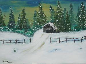 Winter Cabin - Jimmy's Art Work