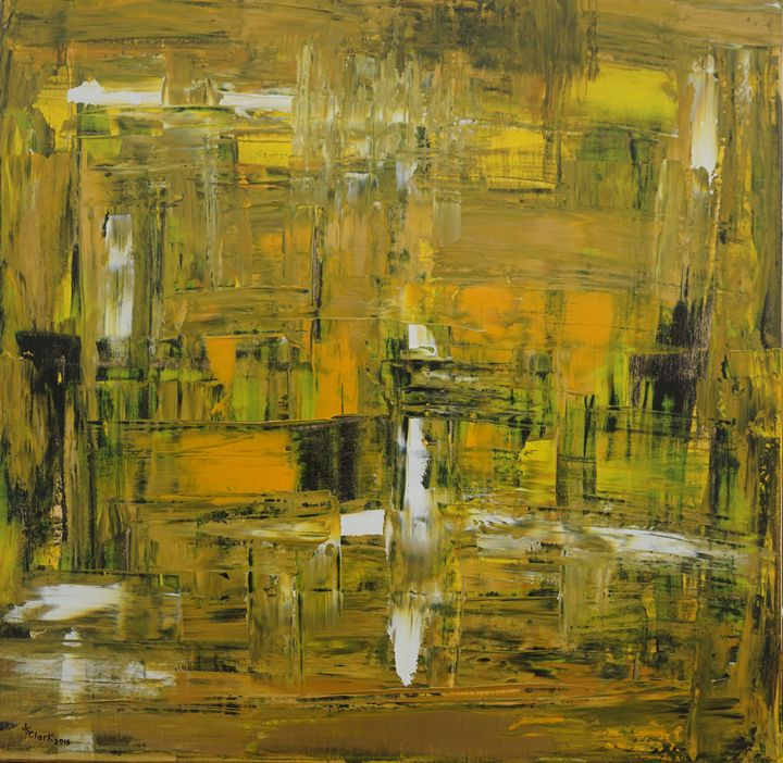 Yellow & Black Abstract - Jimmy's Art Work