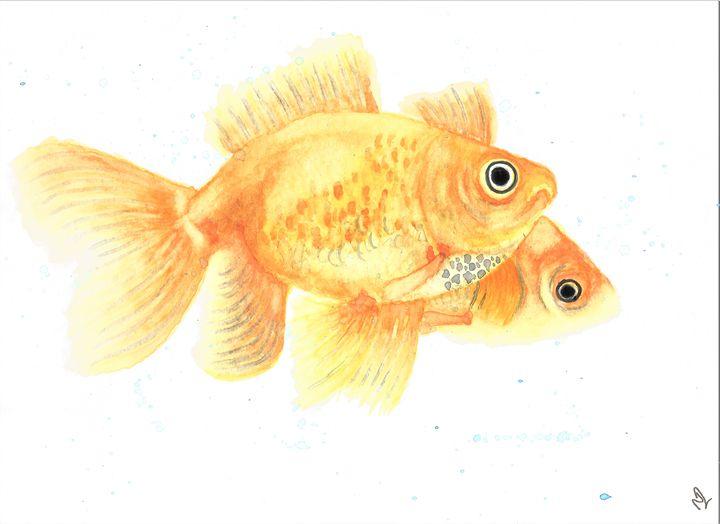 Watercolour Goldfish - Natasha Lovell Art