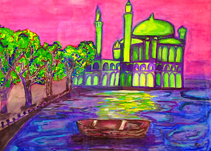 Mosque by the River in Turkey - Renad's Impressions
