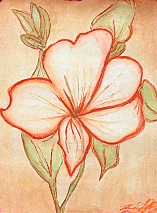 Flower in Sanguine - Renad's Impressions