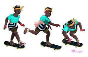 Omni Citizen: Woman on Skateboard 2