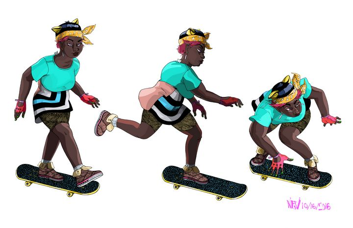 Omni Citizen: Woman on Skateboard 2 - UltraColdSun