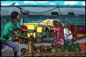 The Push Hand Cart - Marlon's Art Gallery