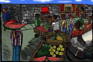 The Market Scene