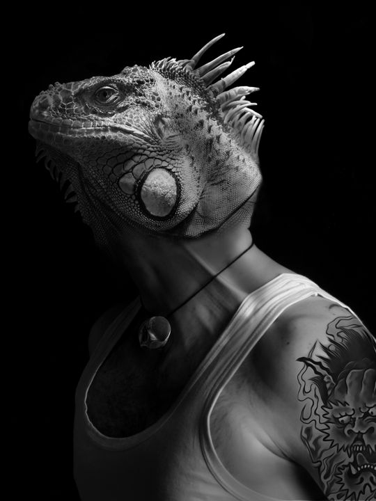 Portrait of a Predator II - Ray Delgado Art