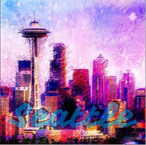 Seattle Poster - Jewell Designs