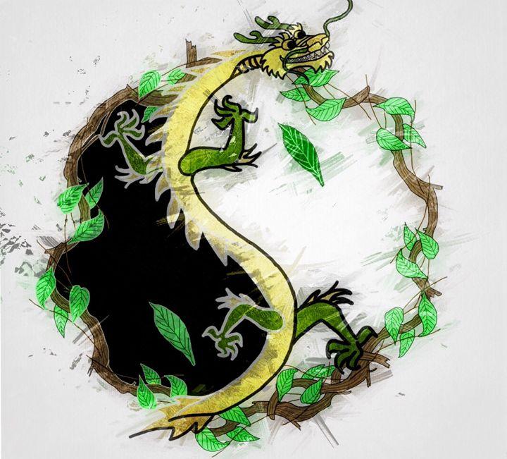 Earth Dragon Yin Yang - Jewell Designs