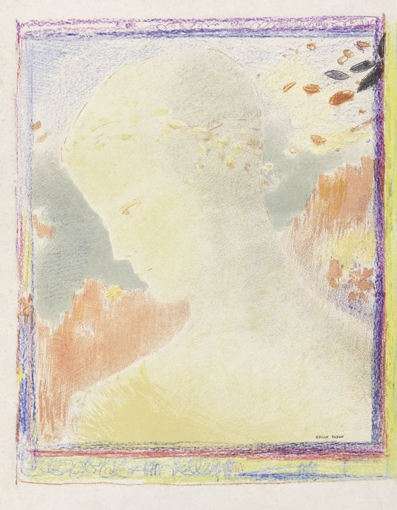Beatrice (1897) by Odilon Redon. - Shopability