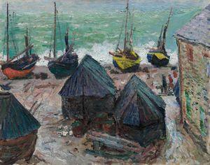 Boats on the Beach at Étretat (1885)