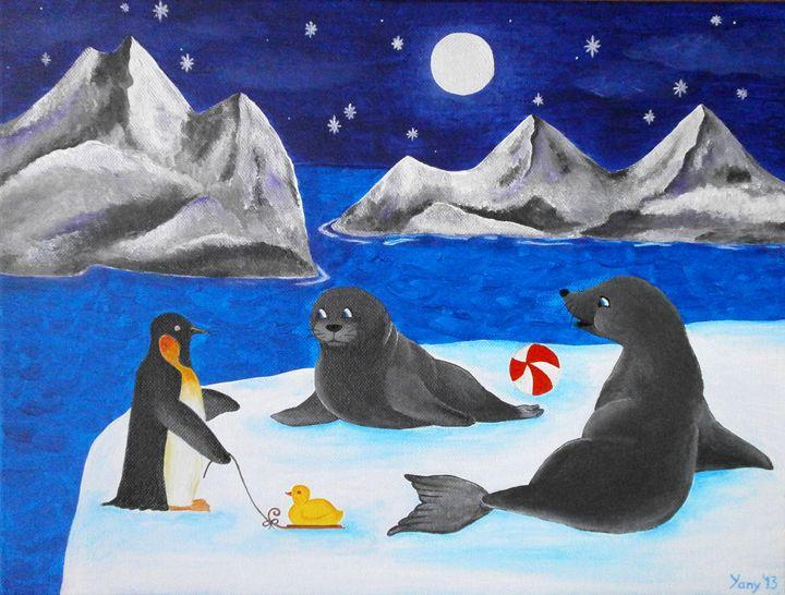 Polar meeting - Art by Yany