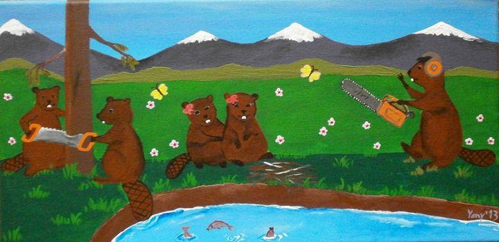 The beavers - Art by Yany